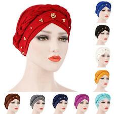 Women Turban Head Wrap Cover Scarf Muslim Hijab Chemo Cancer Cap Bonnet Hat New