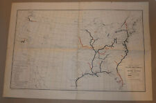 VINTAGE 1944 USA MAP! COMMERCIALLY NAVIGABLE INLAND WATERWAYS! 6' & 9' DEPTHS!