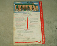 OVERSIZE Vintage BRENNAN'S FRENCH RESTAURANT NEW ORLEANS DINNER & DESSERT MENU