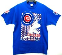 Vintage Majestic Chicago Cubs Men's Size XL T Shirt Single Stitch w/ Patch RARE