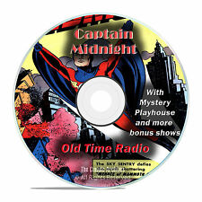 Captain Midnight, 920 Episodes Old Time Radio Adventure Mystery, OTR DVD MP3 F98