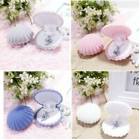 Shell Shape Velvet Display Jewelry Gift Box Case For Earrings Necklace Rings Hot