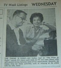 1961 TV AD~BILL CULLEN AT HOME PLAYING PIANO WITH WIFE ANNE~THE PRICE IS RIGHT