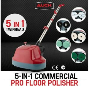Electric Floor Cleaner Polisher Scrubber Buffer with Cleaning Brushes Pads NEW