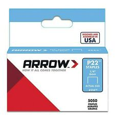 Arrow P22 Staples Box 5000 1/4in 1/4 Inch/ 6 mm Silver