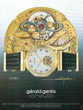 ▬► PUBLICITE ADVERTISING AD MONTRE WATCH Gérald GENTA Tourbillon 1991