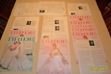Modern Bride Article Reprints 1960