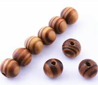 100 pcs Brown Wood Spacer Loose beads Necklace Bracelets charms Findings 10mm