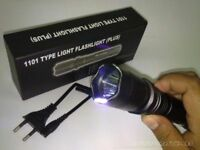 Electro Shocker Self-defense Electric LED Flashlight Police Torch Stun Gun