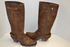 ARIAT WOMENS WILDFLOWER WESTERN BROWN SZ 7 B COWGIRL HARNESS BOOTS 10016359