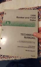 John Deere 1200 Bunker and Field Rake Technical Manual Tm1525