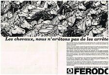G- Publicité Advertising 1968 (2 pages) Garniture Freins à disque tambour Ferodo