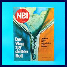 DDR-Zeitschrift NBI 25/1988 - Warnemünde Frankfurt/O. Friedrichshagen Tokio