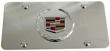 Cadillac Front License Plate Frame Stainless Mirror Steel 3D AUTHENTIC