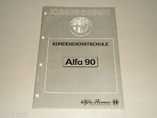 Schulungsunterlage Kundendienstschule Alfa Romeo Modelleinführung Alfa 90 (1984)