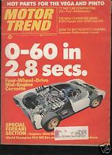 1970 Motor Trend- Fiat 850 -Camaro -AMC lot of 20 vintage car magazines pre-1973