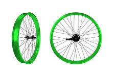 PUCK24 RIMS BICYCLE RIMS NEON GREEN CUSTOM BICYCLE  WHEELS BEACH CRUISER RIMS
