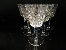 6 SIGNED WATERFORD CRYSTAL CLARET WINE GOBLETS ~ ALANA PATTERN ~ BEAUTIFUL