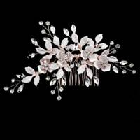 Women Hair Jewelry Floral Crystal Bridal Hair Comb Hairpin Ornaments For Wedding