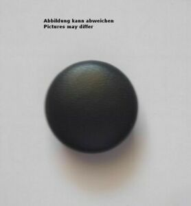 Leather Button Dark Grey Real Leather Covered - Sizes for Selection