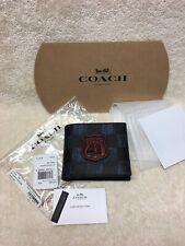 NWT Coach Men's 3 In 1 Graphic Checker ID Wallet, F27052 $195