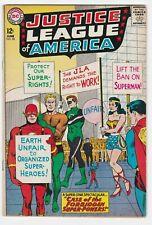 Justice League Of America #28 F+ 6.5 Flash Superman Wonder Woman Batman The Atom