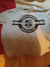 NHL Los Angeles Kings T-Shirt Stanley Cup Champion 2012 Coors Light Large L Grey