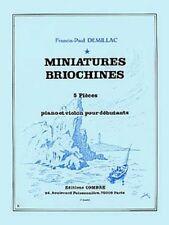 Partition pour piano & violon - Francis Paul Demillac - Miniatures Briochines