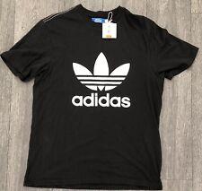 Adidas Originales Trébol Logo Negro BNWT T-shirt Tamaño L