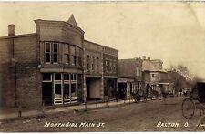 Postcard, Real Photo, Dalton, Ohio, Main Street, store fronts, Post Office