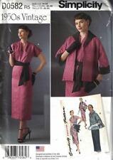 Simplicity D0582 8245 Vtg 1950s Dress Sash & Lined Jacket Size 14-22 Uncut