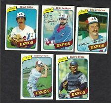 1980 TOPPS BASEBALL CARDS LOT OF 5 MONTREAL EXPOS 293 345 415 427 446 ORIGINAL