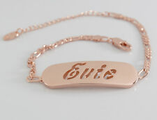 Name Bracelet EVIE 18ct Rose Gold Plated Birthday Wedding Bridesmaid Gifts