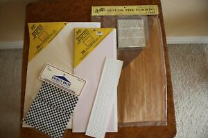 Miniature Dollhouse Lot of Floor Material, Tile, Pine Flooring and more T-2