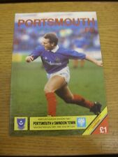 24/02/1990 Portsmouth v Swindon Town  . Thanks for viewing this item, buy in con