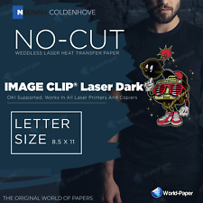 Image Clip Laser Dark Heat Transfer Paper 85 X 11 10 Sheets