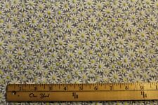 Fabric by Yard Crazy Daisy Gray w/ yellow Quilting & Sewing Cotton