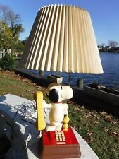 Vintage 1970's The Snoopy And Woodstock Telephone & Lamp - Phone Desk Lamp Combo