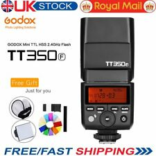 UK Godox Mini 2.4G TTL HSS TT350F Camera Flash Speedlite for Fuji Cameras + Gift