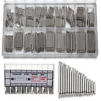 360pcs Stainless Steel Watch Band Spring Bars Strap Link Pins 8-25mm