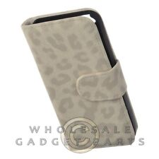 Apple iPhone 5S/SE Wallet Pouch Leopard Cream Case Cover Shell Protector Shield
