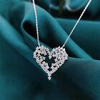 Fashion Cubic Zirconia Heart 925 Silver Necklaces Pendants Wedding Women Jewelry