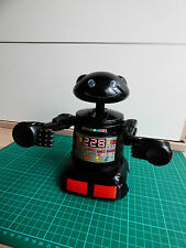 Vintage Blue Box Robot For Parts Black Collectible Plastic Retro Classic Toy