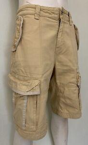 """Fat Face Men's Beige Cotton Cargo Shorts - W34"""" - 86 Cm's"""