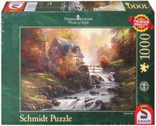 1000 Teile Schmidt Spiele Puzzle Thomas Kinkade Bei der alten Mühle 57486