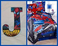 "Spiderman 9"" Childrens Wooden Letters Decor Can do any Theme"