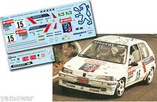 Decal 1:43 Sergio Vallejo - PEUGEOT 106 - Rally El Corte Ingles 1995