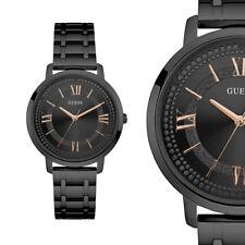 GUESS W0933L4 Montauk Schwarz Edelstahl Armband Damenuhr Armbanduhr