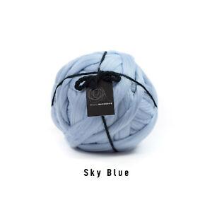 1kg Sky Blue Mammoth® Giant Super Chunky Extreme Arm Knitting Big Blanket Yarn