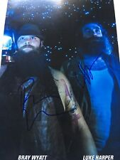 Bray Wyatt And Luke Harper Signed Wwe Photo Full Program Page 9x13 Size